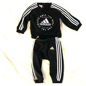 Black Adidas Sweatsuit 9-12 months
